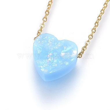 SkyBlue Stainless Steel Necklaces