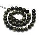 Natural Golden Sheen Obsidian Beads Strands(X-G-S150-20-6mm)-2