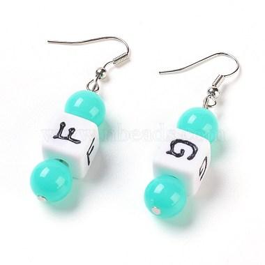 Cyan Acrylic Earrings