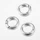 Tibetan Style Alloy Spring Gate Rings(X-TIBE-T002-28AS-RS)-1