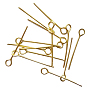 7cm Golden Brass Pins(X-KK-EP7.0cm-G)