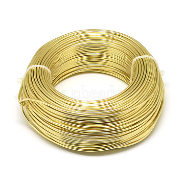 Aluminum Wire, Bendable Metal Craft Wire, for DIY Jewelry Craft Making, Light Khaki, 9 Gauge, 3.0mm, 25m/500g(82 Feet/500g)(AW-S001-3.0mm-27)