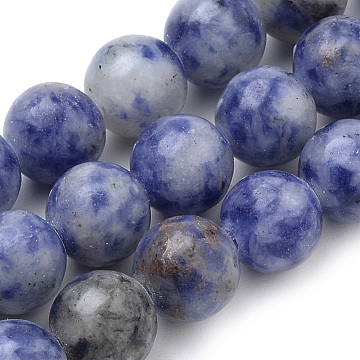Natural Brazil Sodalite Beads Strands, Round, 6mm, Hole: 1mm; about 70pcs/strand, 15.7inches(X-G-S259-36-6mm)