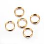 Golden Ring 304 Stainless Steel Split Rings(X-STAS-P223-22G-07)