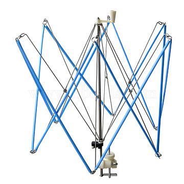 Umbrella Shaped Iron Swift Yarn Winder Wool Holder, CornflowerBlue, 420x560mm(TOOL-R068-02)