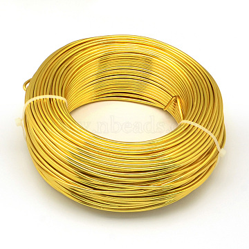 Aluminum Wire, Bendable Metal Craft Wire, for DIY Jewelry Craft Making, Gold, 6 Gauge, 4mm, 16m/500g(52.4 Feet/500g)(AW-S001-4.0mm-14)