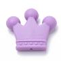 35mm MediumPurple Crown Silicone Beads(SIL-Q013-09)