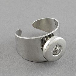 Латунные компоненты оснастки манжеты кольца, платина, 19x14 мм; кнопки в 5x4 мм (KK-S087)