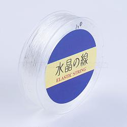 Chaîne en cristal élastique plat japonais, fil de perles élastique, pour la fabrication de bracelets élastiques, blanc, 0.6mm, 80 yards / rouleau, 240 pied / rouleau(EW-G007-02-0.6mm)