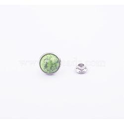 rivets turquoises, avec des résultats en acier inoxydable et en aluminium, pour bourse, des sacs, bottes, décoration d'artisanat en cuir, platine, yellowgreen, 8 mm(FIND-WH0012-A-11)