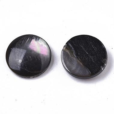 Natural Black Lip Shell Cabochons(X-SHEL-R047-11)-2