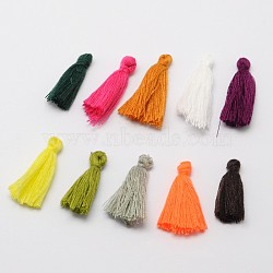 Décorations de pendentif de gland en fil de coton, couleur mixte, 25~31x5 mm; environ 39~47 PCs / sac(NWIR-P001-03)