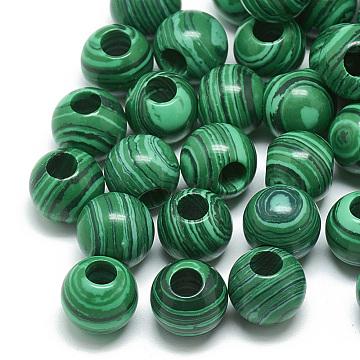 14mm Rondelle Malachite Beads