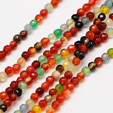 3mm Mixed Color Round Natural Agate Beads