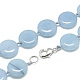 Natural Aquamarine Beaded Necklaces(NJEW-S397-21)-2