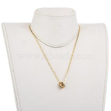 Love Knot Pendant Necklaces(NJEW-JN03007)-4