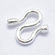 925 Sterling Silver S Shape Clasps(X-STER-I013-37S)-2