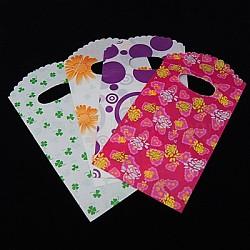 Sacs en plastique imprimés, couleur mixte, 9x18 cm(PE-A003-9x18cm-M3)