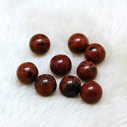 obsidienne naturelle en acajou perles rondes, sphère de pierres précieuses, pas de trous / non percés, 12 mm(G-A127-12mm-35)