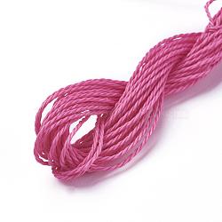 вощеный шнур полиэстера, камелия, 1 мм; о 8.96~9 м / рулон(YC-WH0005-13)