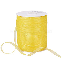 "Ruban d'organza, jaune, 1/4"" (6 mm); 500yards / roll (457.2m / roll)(RS6mmY015)"
