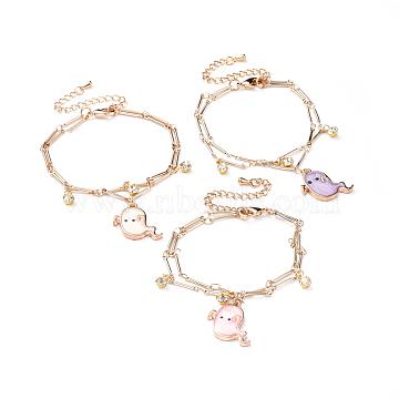 Mixed Color Brass Bracelets