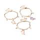 Brass Multi-strand Charm Bracelets(BJEW-JB04499)-1