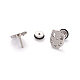 304 Stainless Steel Owl Ear Fake Plugs(EJEW-I196-14B)-1
