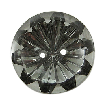 2-Hole Acrylic Rhinestone Sewing Buttons, Dark Gray, Flat Round, about 25mm in diameter, 7mm thick, hole: 2mm(X-AR3237-25MM-27)