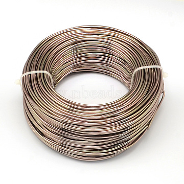 Aluminum Wire, Flexible Craft Wire, for Beading Jewelry Doll Craft Making, Camel, 20 Gauge, 0.8mm, 300m/500g(984.2 Feet/500g)(AW-S001-0.8mm-15)