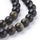 Natural Golden Sheen Obsidian Beads Strands(G-C076-8mm-5)-3