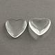 Transparent Glass Heart Cabochons(X-GGLA-R021-12mm)-1