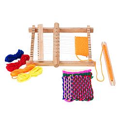 Tricot en bois tisser des métiers à tisser avec des fils enjoliveurs de support des baguettes et des navettes avec des instructions détaillées (1 set)(TOOL-R059-04)