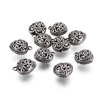 Thai Sterling Silver Plated Heart Alloy Pendants