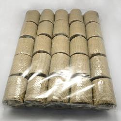Natral Burlap Ribbon, Hessian Ribbon, Jute Ribbon, for Craft Making, Camel, about 65mm wide, 2.7m/roll, 25rolls/bag(DIY-S003-09-6.5cm)