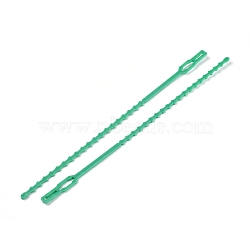 Reusable Plastic Plant Cable Ties, Adjustable Plant Twist Ties, Garden Tool, MediumSea Green, 222x5~9x1.5~2mm; about 100pcs/bag(TOOL-WH0021-33C)