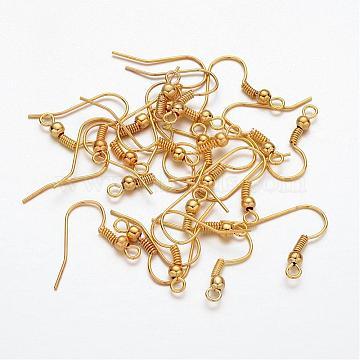 Golden Iron Earring Hooks