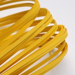 Bandes de papier quilling, verge d'or, 390x3mm; à propos 120strips / sac(X-DIY-J001-3mm-B19)