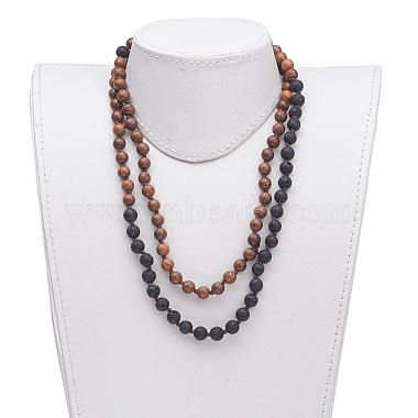 Wood Beaded Two Tiered Necklaces(NJEW-JN01974)-4