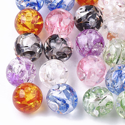 Resin Beads, Imitation Amber, Round, Mixed Color, 19.5mm, Hole: 2.5mm(X-RESI-T025-20mm)