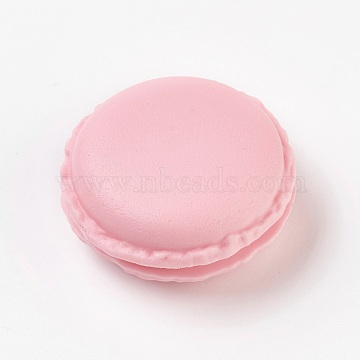 Portable Candy Color Mini Cute Macarons Jewelry Ring/Necklace Carrying Case, Pink, 4.2x2~2.1cm; inner diameter: 2.7cm(CON-WH0038-A04)