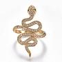 Clear Brass+Cubic Zirconia Finger Rings(RJEW-G108-06G)