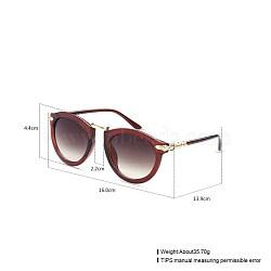 модные женские летние солнцезащитные очки, Пластиковые рамы и поликарбонатные линзы, saddlebrown, 16x4.4 cm(SG-BB21484-7)