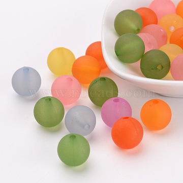 12mm Colorful Round Acrylic Beads