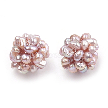 12mm RosyBrown Round Pearl Beads