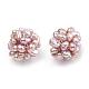 Handmade Natural Pearl Woven Beads(WOVE-S116-02A)-1