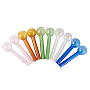 NBEADS Glass Straws with Round Ball, Long Glass Drinking Straws, Mixed Color, 10.8x2.95cm, Hole: 5mm and 7.5mm; 2pcs/color, 10pcs/set