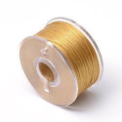 Fils de polyester spécialement revêtus pour les perles de graines, Pérou, 0.1 mm; environ 50 mètres / rouleau(OCOR-R038-05)