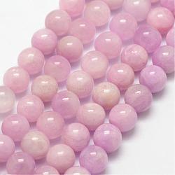 """Chapelets de perles en kunzite naturelle, rond, 8mm, trou: 1mm; environ 49 pcs/chapelet, 15.7""""(G-D856-03-8mm)"""