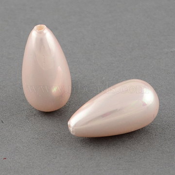 16mm Pink Drop Shell Pearl Beads